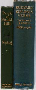 Books:Literature 1900-up, Rudyard Kipling. Lot of Two Volumes by Rudyard Kipling. Including:Puck of Pook's Hill. Doubleday, Page and Comp... (Total: 2Items)