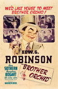 """Movie Posters:Crime, Brother Orchid (Warner Brothers, 1940). One Sheet (27"""" X 41"""").. ..."""