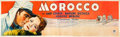 "Movie Posters:Romance, Morocco (Paramount, 1930). Banner (36"" X 118"").. ..."