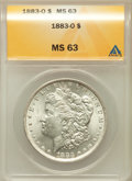 Morgan Dollars: , 1883-O $1 MS63 ANACS. NGC Census: (44193/54106). PCGS Population(43342/43742). Mintage: 8,725,000. Numismedia Wsl. Price f...