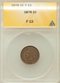 Indian Cents: , 1878 1C Fine 12 ANACS. NGC Census: (3/282). PCGS Population(8/354). Mintage: 5,799,850. Numismedia Wsl. Price for problem ...