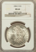 Morgan Dollars: , 1884-O $1 MS64 NGC. NGC Census: (78198/19537). PCGS Population(63749/14367). Mintage: 9,730,000. Numismedia Wsl. Price for...