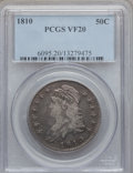 Bust Half Dollars: , 1810 50C VF20 PCGS. PCGS Population (29/674). NGC Census: (10/630).Mintage: 1,276,276. Numismedia Wsl. Price for problem f...