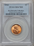 Lincoln Cents, 1944 1C MS67 Red PCGS. Ex: Ron Bozarth Collection. PCGS Population(212/0). NGC Census: (455/0). Mintage: 1,435,399,936. Nu...