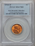 Lincoln Cents, 1944-D 1C MS67 Red PCGS. Ex: Ron Bozarth Collection. PCGSPopulation (268/2). NGC Census: (853/0). Mintage: 430,577,984.Nu...