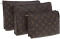 Luxury Accessories:Bags, Louis Vuitton Set of Three Classic Monogram Canvas Cosmetic Cases.... (Total: 3 Items)
