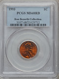 Lincoln Cents, 1993 1C MS68 Red PCGS. Ex: Ron Bozarth Collection. PCGS Population(126/1). NGC Census: (50/1). Numismedia Wsl. Price for ...