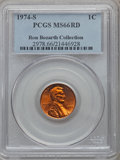 Lincoln Cents, 1974-S 1C MS66 Red PCGS. Ex: Ron Bozarth Collection. PCGSPopulation (116/14). NGC Census: (251/32). Numismedia Wsl. Price...