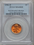 Lincoln Cents, 1986-D 1C MS68 Red PCGS. Ex: Ron Bozarth Collection. PCGSPopulation (132/0). NGC Census: (0/0). Numismedia Wsl. Price for...