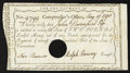 Colonial Notes:Connecticut, Connecticut Interest Certificate £2 May 19, 1790 Anderson CT-53Extremely Fine. ...