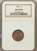 Indian Cents: , 1902 1C MS65 Brown NGC. NGC Census: (56/11). PCGS Population (8/0).Mintage: 87,376,720. Numismedia Wsl. Price for problem ...