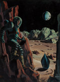Pulp, Pulp-like, Digests, and Paperback Art, BUNCH (American, 20th Century). Prelude to Space, Galaxy ScienceFiction digest cover, 1951. Oil on board. 12 x 9 in. (i...