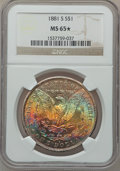 Morgan Dollars: , 1881-S $1 MS65 ★ NGC. NGC Census: (49925/20228). PCGS Population(47850/13910). Mintage: 12,7...