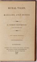 Books:Literature Pre-1900, Robert Bloomfield. Rural Tales, Ballads and Songs. Vernorand Hood, Poultry; and Longman, Rees, 1803. Engraved p...