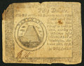 Colonial Notes:Continental Congress Issues, Continental Currency September 26, 1778 $50 Fine-Very Fine.. ...