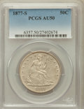 Seated Half Dollars: , 1877-S 50C AU50 PCGS. PCGS Population (20/414). NGC Census:(7/400). Mintage: 5,356,000. Numismedia Wsl. Price for problem ...