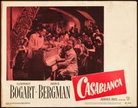 "Casablanca (Warner Brothers, R-1949). Lobby Card (11"" X 14"")"