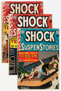 Golden Age (1938-1955):Horror, Shock SuspenStories #4, 10, and 11 Group (EC, 1952-53).... (Total:3 Comic Books)