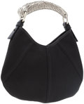 Luxury Accessories:Accessories, Yves Saint Laurent by Tom Ford Black Satin Small Horn HandleMombasa Bag . ...
