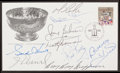 Hockey Collectibles:Others, Hockey Greats Multi Signed First Day Cover....