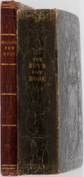Books:Children's Books, [Juvenile Books] Lot of Two Early 19th Century Books For Boys.Including: Mrs. Pilkington. Biography for Boys; or, C... (Total:2 Items)