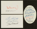 Baseball Collectibles:Others, Baseball Greats Multi Signed Cut Signatures Lot of 3....