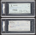 Baseball Collectibles:Others, Willie McCovey and Duke Snider Signed Checks Lot of 2....