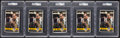 Basketball Collectibles:Photos, John Wooden Signed Oversized Cards Lot of 5 - PSA Authentic. ...