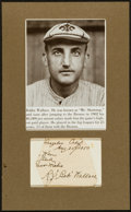 Baseball Collectibles:Others, Roderick J. Wallace Signed Cut Signature Display....