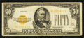 Small Size:Gold Certificates, Fr. 2404 $50 1928 Gold Certificate. Fine-Very Fine.. ...