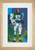 Football Collectibles:Others, 1967 Emerson Boozer Original Painting by LeRoy Neiman....