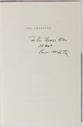 Books:Literature 1900-up, Cormac McCarthy. INSCRIBED. The Crossing. Knopf, 1994. Firstedition, first printing. Signed and inscribed by the ...