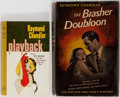 Books:Mystery & Detective Fiction, Raymond Chandler. Group of Two Books, One Photoplay Edition.Various publishers, 1946-1960. Publisher's binding and one in d...(Total: 2 Items)