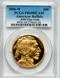 Modern Bullion Coins, 2006-W $50 One-Ounce Gold American Buffalo PR69 Deep Cameo PCGS..9999 Fine Gold. PCGS Population (9005/4206). NGC Census:...