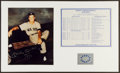 "Baseball Collectibles:Photos, Mickey Mantle ""No. 7 1956"" Signed Photograph Display...."