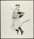 Baseball Collectibles:Others, Joe DiMaggio Signed Original Drawing....
