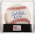 "Autographs:Baseballs, Bob Feller ""HoF 62"" Single Signed Baseball PSA Gem Mint 10...."