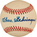 Autographs:Baseballs, Charles Gehringer Single Signed Baseball....