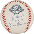 Autographs:Baseballs, Yogi Berra And Don Larsen Dual Signed Baseball With 10-8-56Inscription....