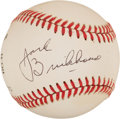 Autographs:Baseballs, Jack Brickhouse Single Signed Baseball. ...