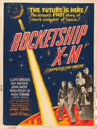 "Rocketship X-M (Lippert, 1950). Poster (30"" X 40""). From the Collection of Wade Williams"