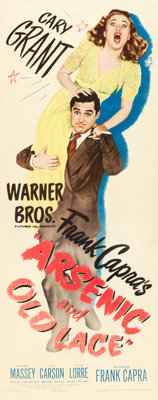 "Arsenic and Old Lace (Warner Brothers, 1944). Insert (14"" X 36"")"