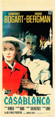 "Casablanca (United Artists, R-1962). Italian Locandina (13"" X 27"") Nano Art"