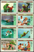 """Movie Posters:Horror, Revenge of the Creature (Universal International, 1955). Lobby CardSet of 8 (11"""" X 14"""").. ... (Total: 8 Items)"""