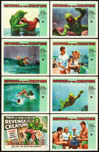 """Revenge of the Creature (Universal International, 1955). Lobby Card Set of 8 (11"""" X 14""""). ... (Total: 8 Items)"""