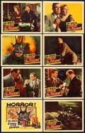 "Movie Posters:Horror, Curse of the Demon (Columbia, 1957). Lobby Card Set of 8 (11"" X14"").. ... (Total: 8 Items)"