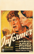 "Movie Posters:Drama, The Informer (RKO, 1935). Window Card (14"" X 22"").. ..."