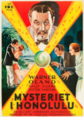 """Movie Posters:Mystery, The Black Camel (Fox, 1931). Swedish One Sheet (27.5"""" X 39.5"""").. ..."""
