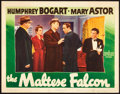"Movie Posters:Crime, The Maltese Falcon (Warner Brothers, 1931). Lobby Card (11"" X14"").. ..."