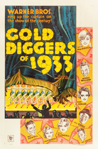 "Gold Diggers of 1933 (Warner Brothers, 1933). One Sheet (27"" X 41"") Style B"